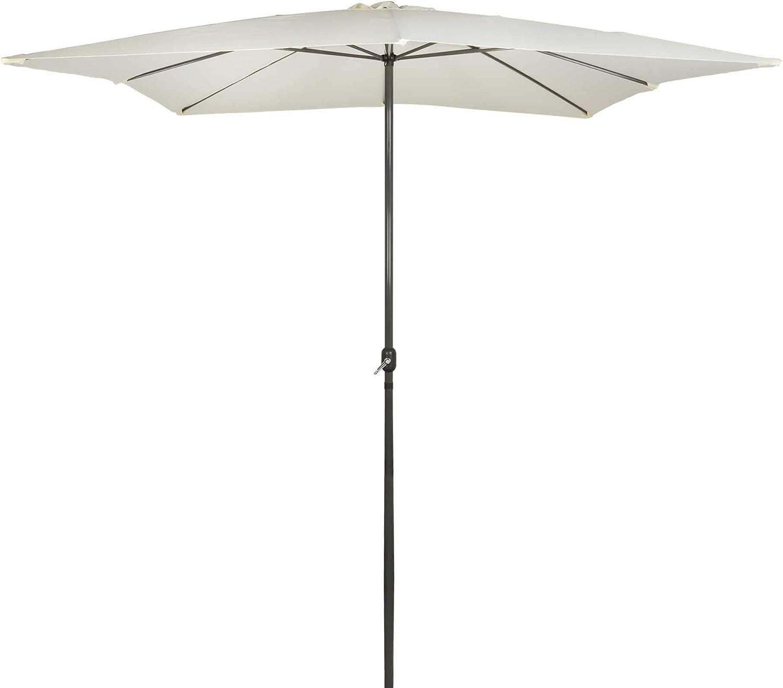 AKTIVE - Parasol Cuadrado Garden 3 x 3 Metros - Mástil de Aluminio 48 mm - Vainilla (ColorBaby 53875)
