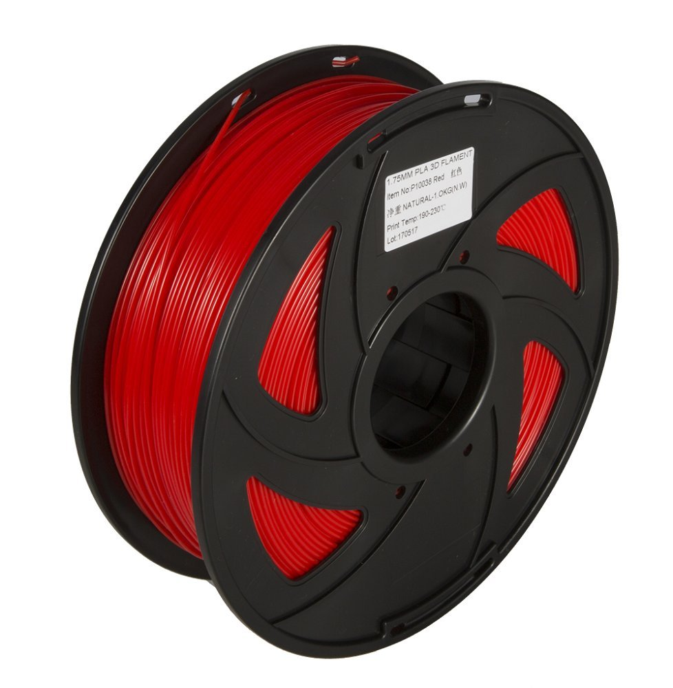 3D Printer PLA Filament 3D Printing Materials 1KG 1.75mm 3D PLA Dimensional Accuracy +/- 0.02 mm, 1 kg Spool, 1.75 mm (Black) ToAuto