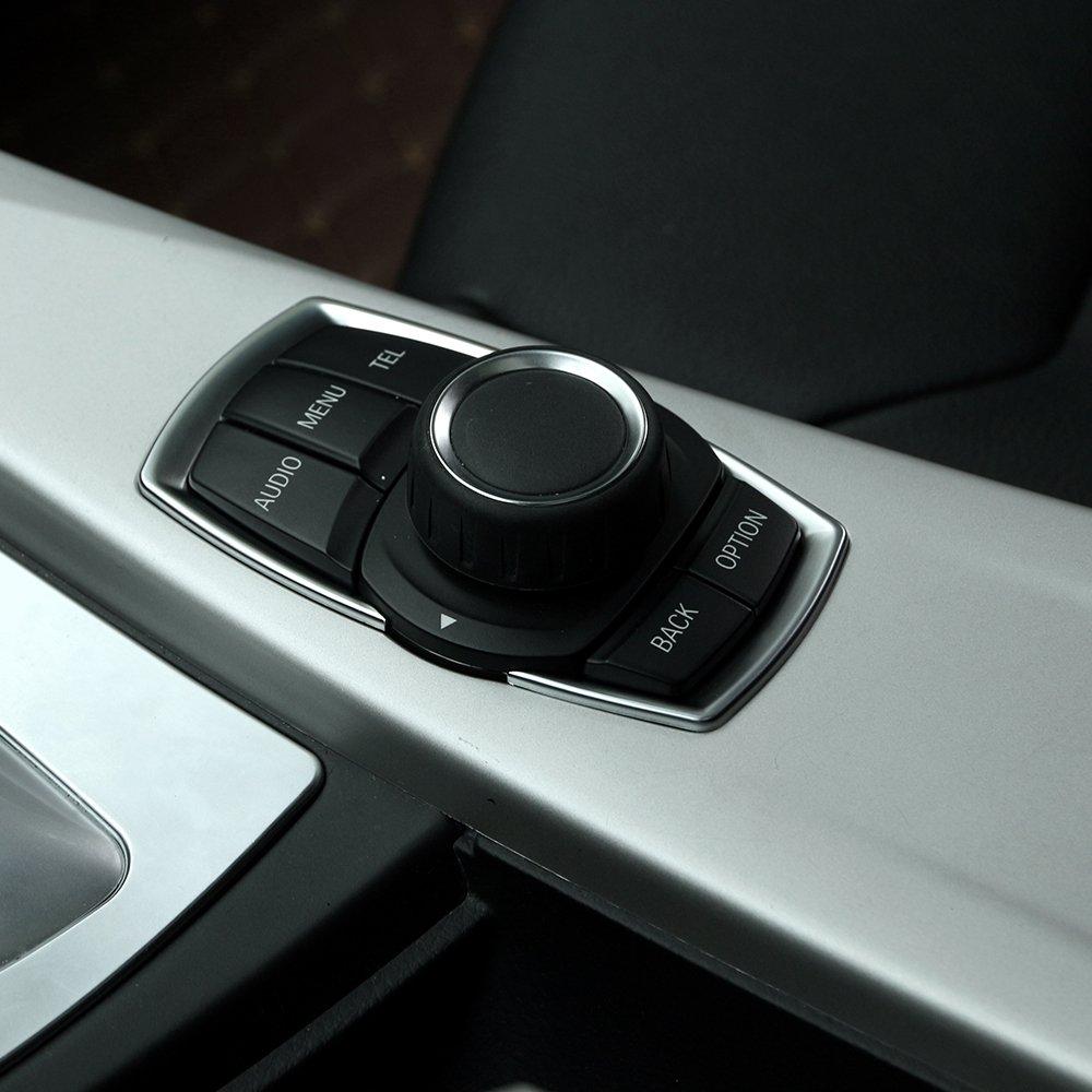 Commutateur chrom/é mat multim/édia pour S/érie 1 2 3 4 F20/F30/F31/F32/F34/F35/GT 2016/2017 /Accessoires auto en ABS