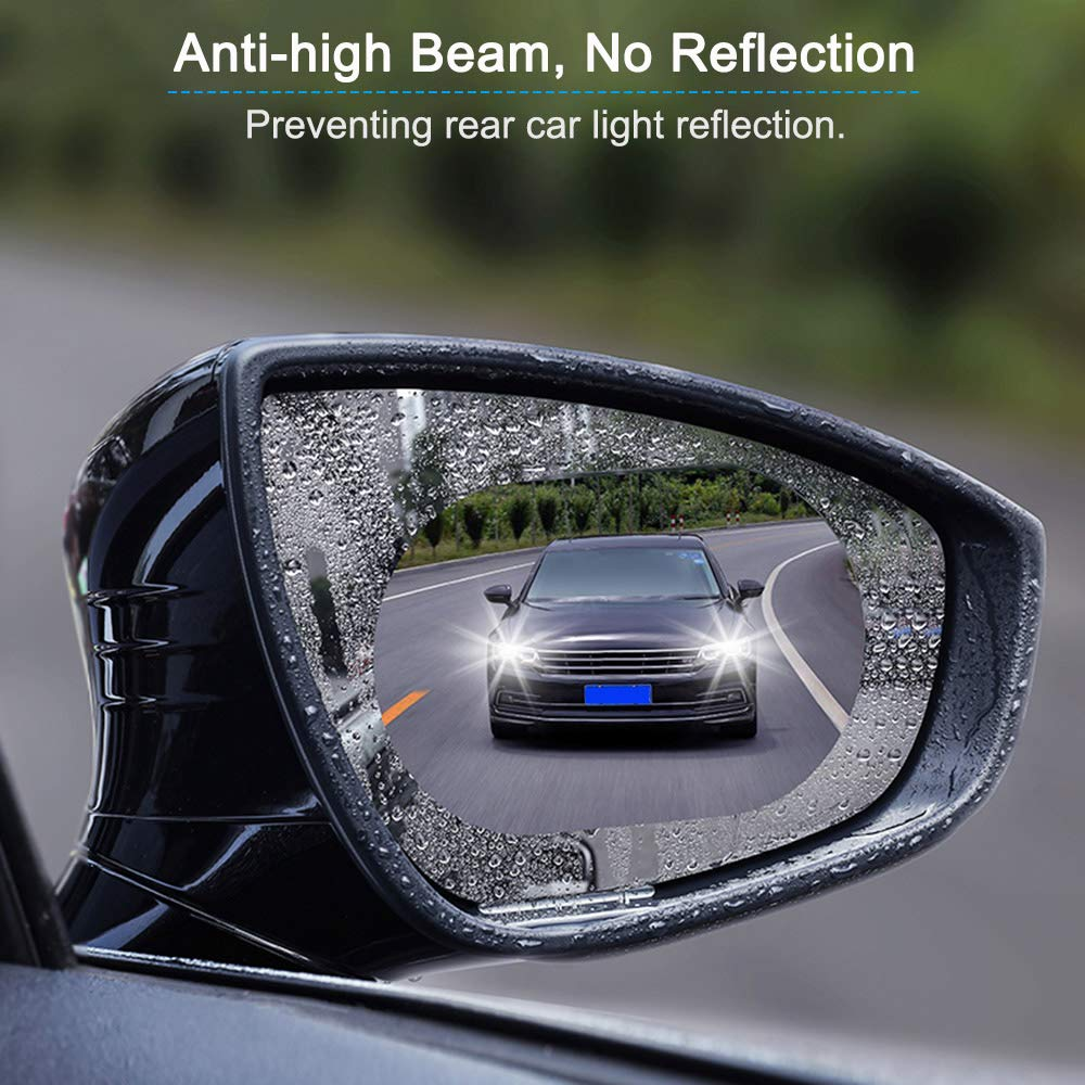 Moligh doll 2Pcs Car Protective Film Anti Fog Clear Rainproof Protective Soft Film Anti Glare Film,Side window film