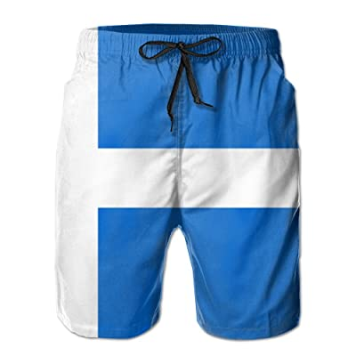 Chion Men's Quick 3D Printing Dry Beach Shorts Flag of Shetland Casual Shorts
