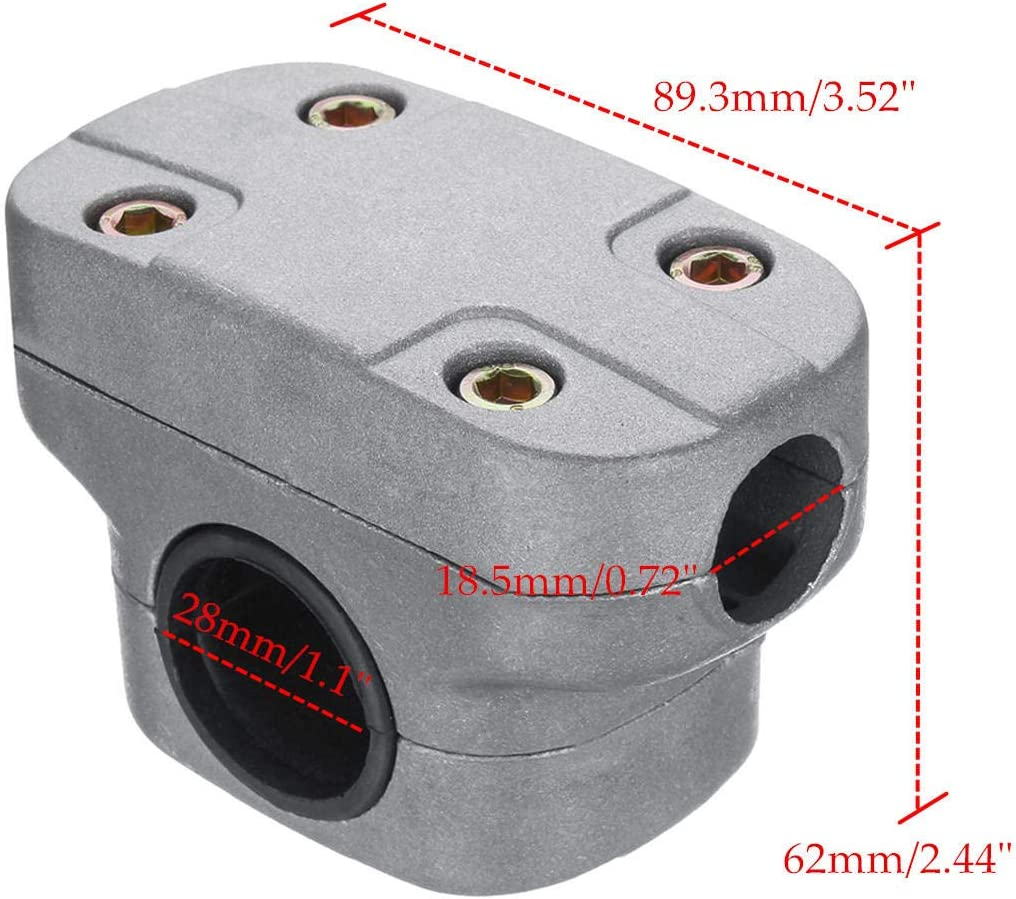 RENCALO 26mm 28mm Mango Holder Fix Bracket Clamp para Strimmer Trimmer Brush Cutter Tube cortacésped-002