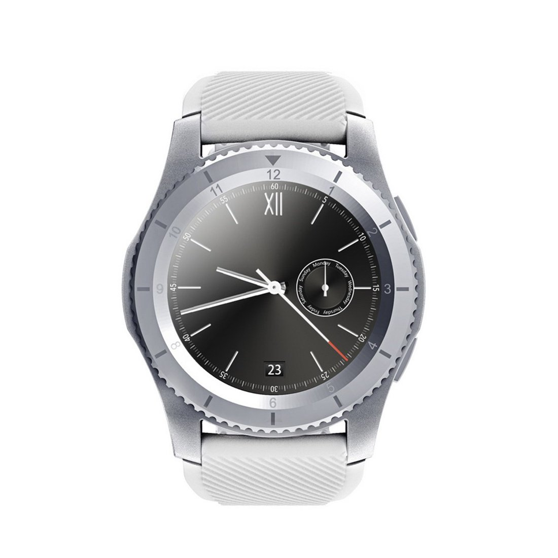 G8 Smartwatch Bluetooth 4.0 SIM Call Message Reminder Heart Rate Monitor Smart watchs For Android IOS, Silver