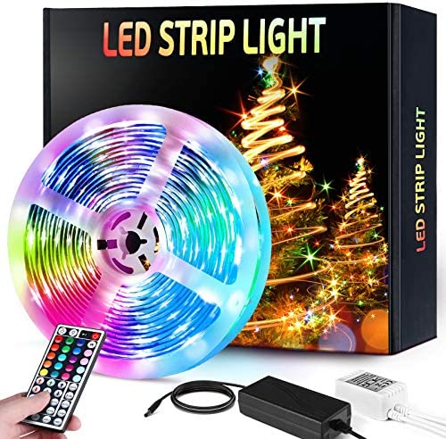 Led Strip Lights, HOKEKI Neon Lights, Led Lights for television, Lights forbedroom, 16.4ft Smart Lamp, with Remote Control, 7 Lighting Effects, with Waterproof Design, Suitable ForTv, Party, Home Decoration