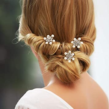 Wedding Bridal Tuck Comb Pearls Hair Pins Wedding Party Proms for Dress up