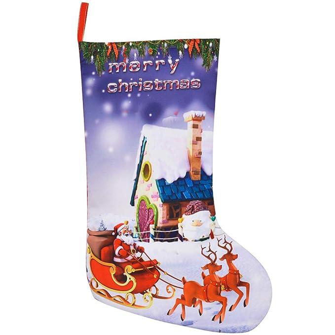 Weimay 1 UNIDS Decoraciones de Navidad de Dulces Calcetines de Tela de Fieltro Muñeco de nieve
