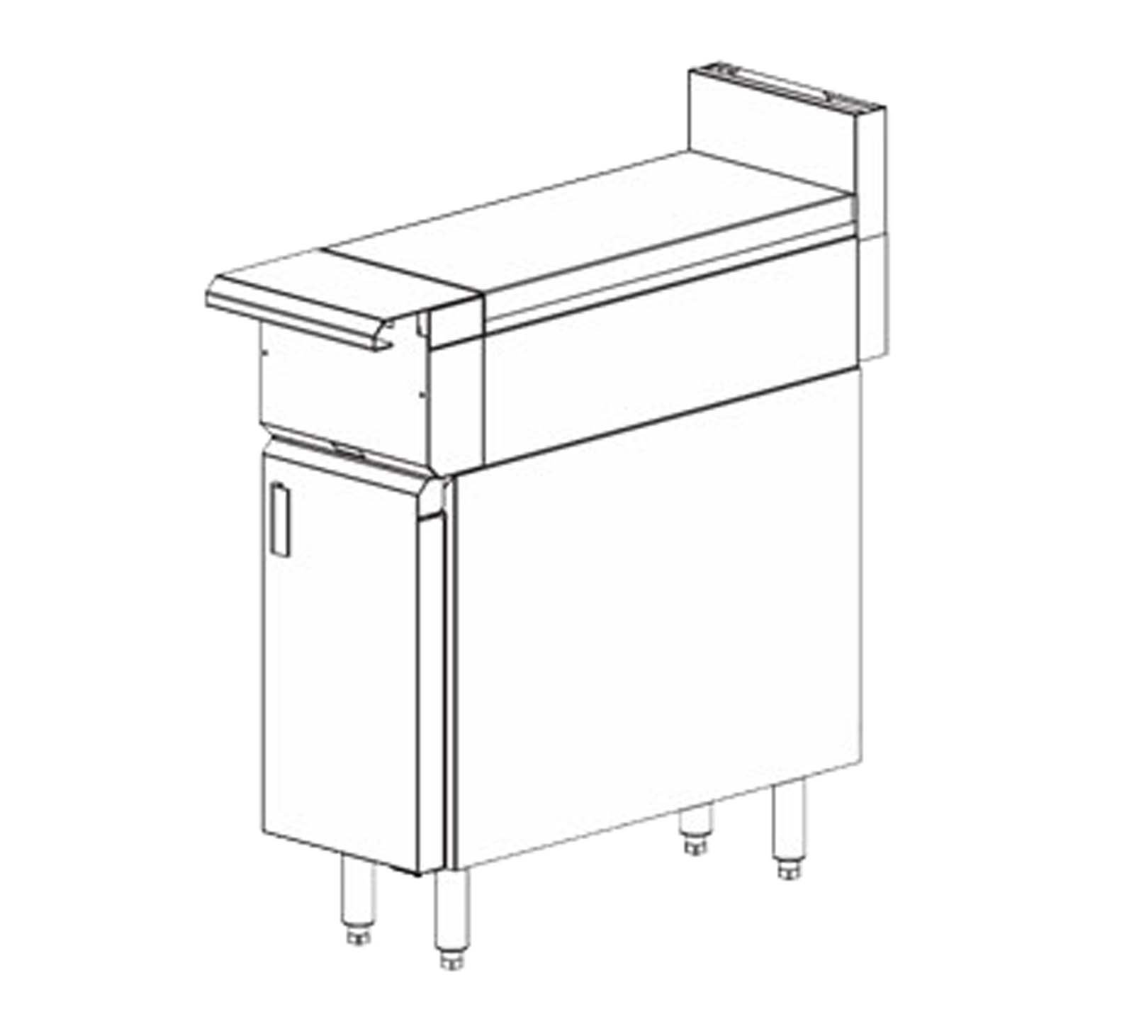 Vulcan VWT12B V Series Heavy Duty Range 12'' work top storage base with cabinet d