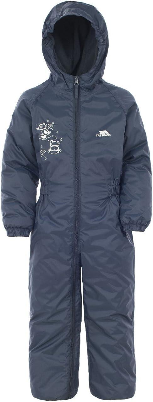 Trespass Kids Unisex Dripdrop Padded Waterproof Rain Suit