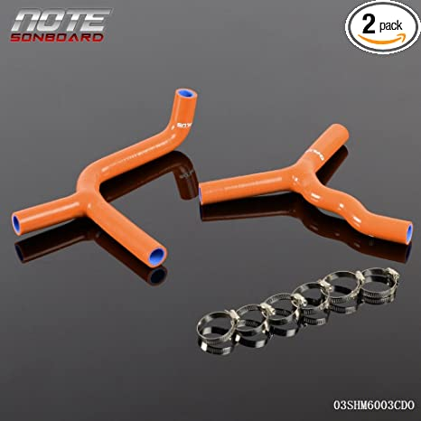 Gplus Silicone Radiator Coolant Hose Kit Clamps For KTM 85SX 2003-2012 08  09 10 11 12 Dark Orange