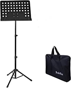 Music Stand Portable Foldable Height Adjustable Instrument Performance Tool with Bag