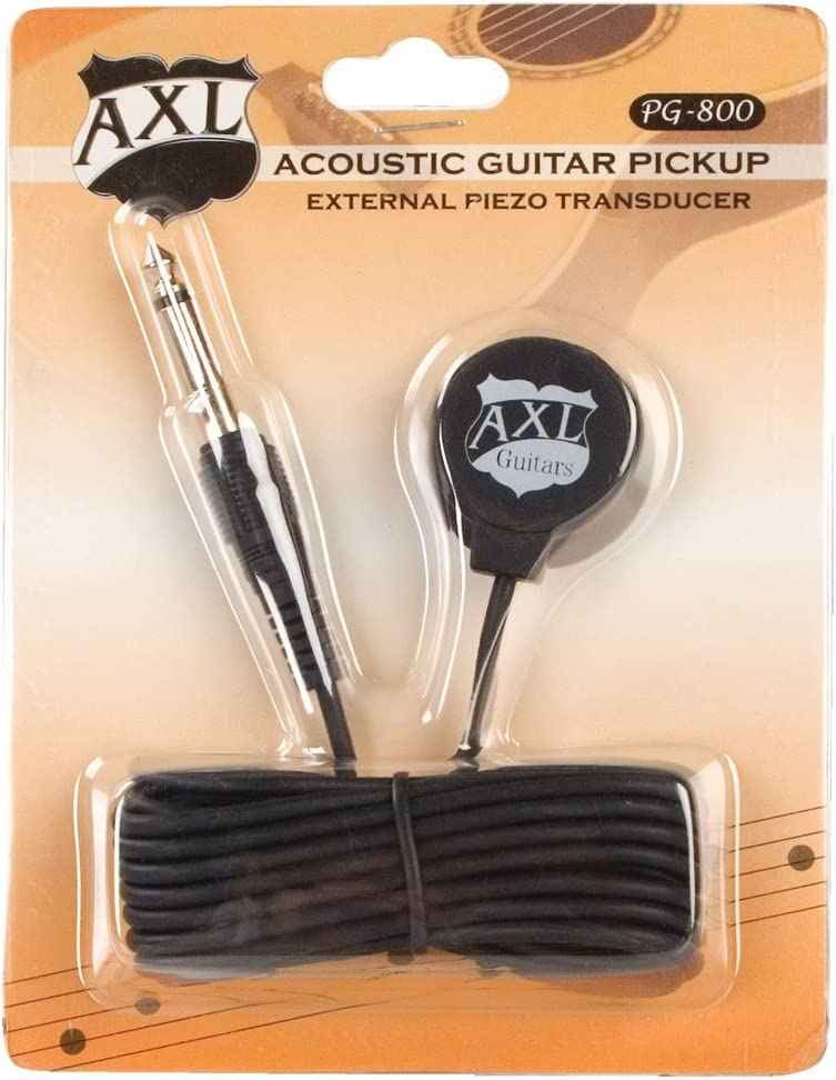 AXL Acoustic Guitar Transducer Pickup with 1//4 Jack and 9 Foot Cable