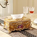 Hyun times Continental Creative tissue box upscale luxury living room coffee table dining table ceramic paper tray pumping pumping cassette retro ornaments