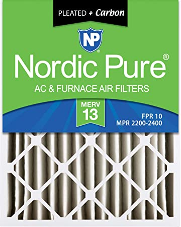 MERV 12 Pleated AC Furnace Air Filters 2 Pack 3-5//8 Actual Depth Nordic Pure 20x24x4
