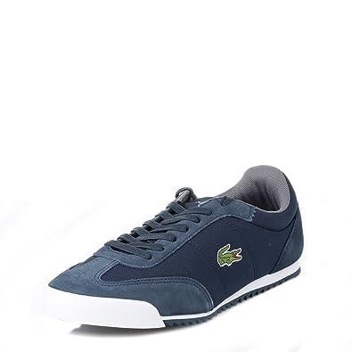 d80686313e78f Lacoste Mens Dark Blue Romeau Trainers  Amazon.co.uk  Shoes   Bags