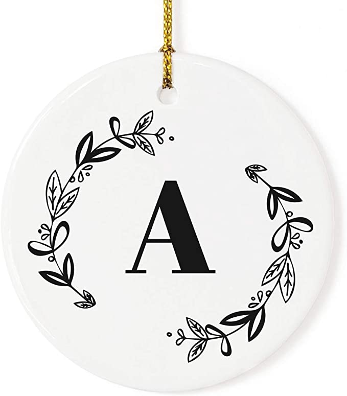 "HOLIDAY GNOME PERSONALIZED MONOGRAM NAME 3.5/"" METAL CHRISTMAS TREE ORNAMENT GIFT"