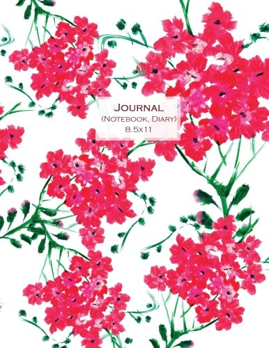 Journal (Notebook, Diary) 8.5x11: Red Flowers, Composition Notebook College Ruled, Lined Journal for School, College and University, Thick Cardstock Matte Cover (Journals to Write in for Women) ebook
