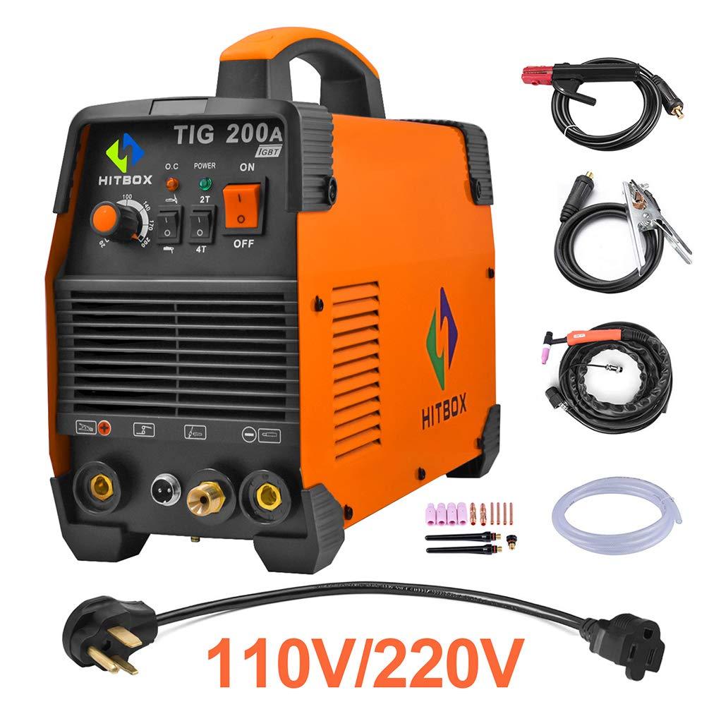 HITBOX TIG Welder 200A 110 220V Dual Volt Inverter TIG Welding Machine by HITBOX