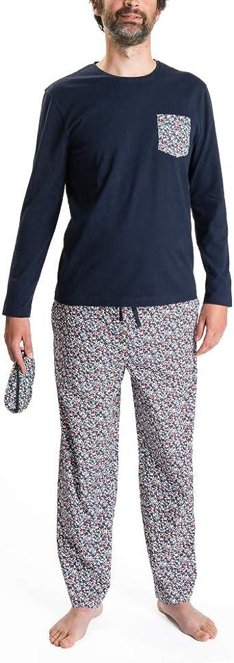 Nightoclock Blower Conjunto de Pijama para Hombre en algodón orgánico e Antifaz