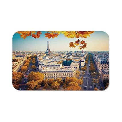 Amazon Com Fall Custom Mouse Pad Aerial View Of Eiffel