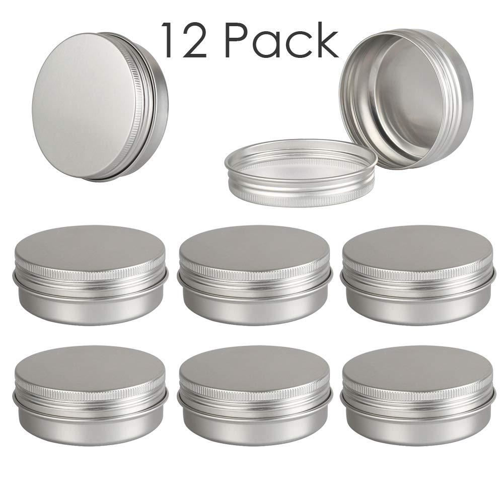 de9a845b3c3e Amazon.com: DLIBUY (Pack of 12) 80G/80ML Empty Aluminum Tins Cans ...