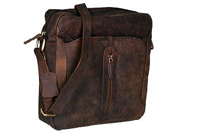 Cuero Handmade Leather Messenger Bag Vintage Style Genuine Leather Satchel Shoulder Business Office Smart Casual College Unisex Bag