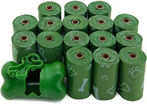 Dog Poop Bags for Waste Refuse Cleanup, Doggy Roll Replacements for Outdoor Puppy Walking and Travel, Leak Proof and Tear Resistant, Thick Plastic - Green (Unscented), 240 Bags (GP-240B)