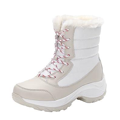 LvRao Stivali da Neve con Pelliccia Ecologica Donna Stivaletti Inverno Caldo  Collo Alto Scarpe  Amazon.it  Scarpe e borse e3086f91e82