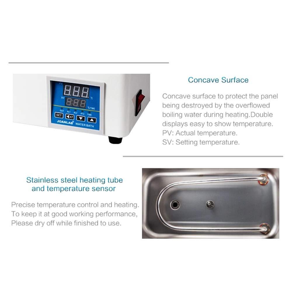 ETE ETMATE thermostat de pr/écision pour bain deau Bain deau thermostatique de laboratoire avec fonction de temporisation RT /à 99 ℃ deux chambres, 220 V
