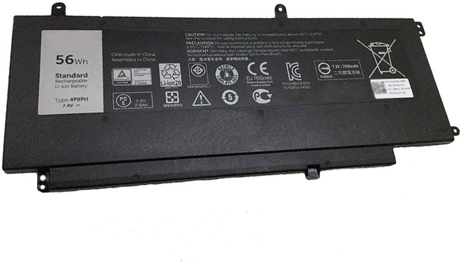 Dentsing 7.4V 56Wh/7410mAh 4P8PH Laptop Battery Compatible with Dell Inspiron 15 7000 7537 7547 7548 NSPIRON 5000 N7547 N7548Series Notebook G05H0 0G05H0 OPXR51 D2VF9