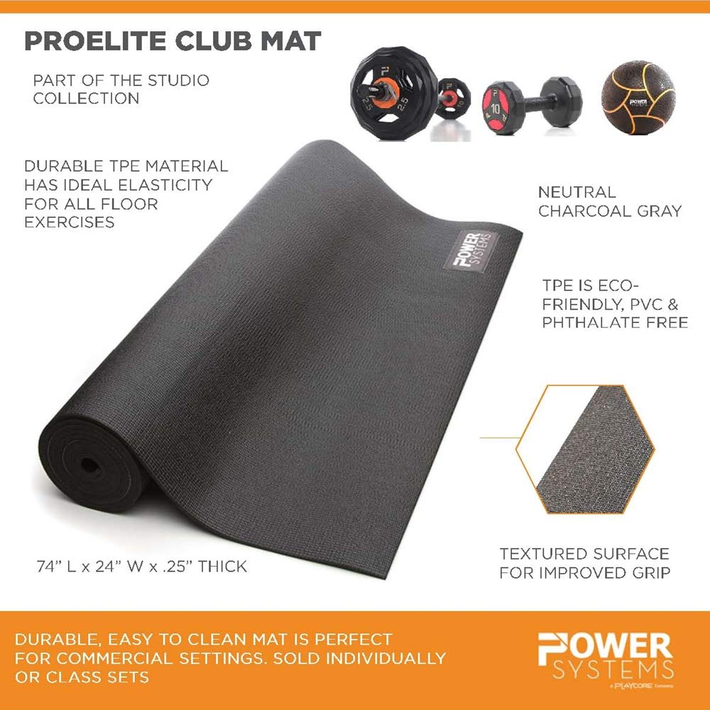 Amazon.com: Power Systems Professional Club Grade Yoga Mat ...