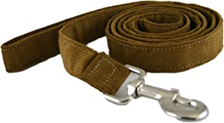 product image for The Good Dog Company Hemp Corduroy Leash - 6 ft (1/2 Inch Width, Bronze)