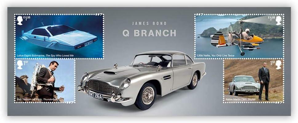 Royal Mail AW139 - Sellos oficiales de Royal Mail James Bond: doble compartimento: Amazon.es: Oficina y papelería