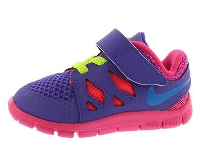 meet d4dc7 fa36c Amazon.com: Nike Toddler Girl's Free 5.0 Tennis Shoes (10C ...