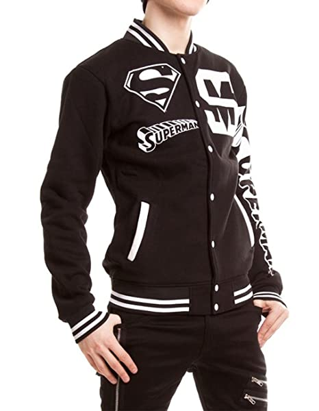 Superman - Chaqueta - universidad - para hombre negro Small