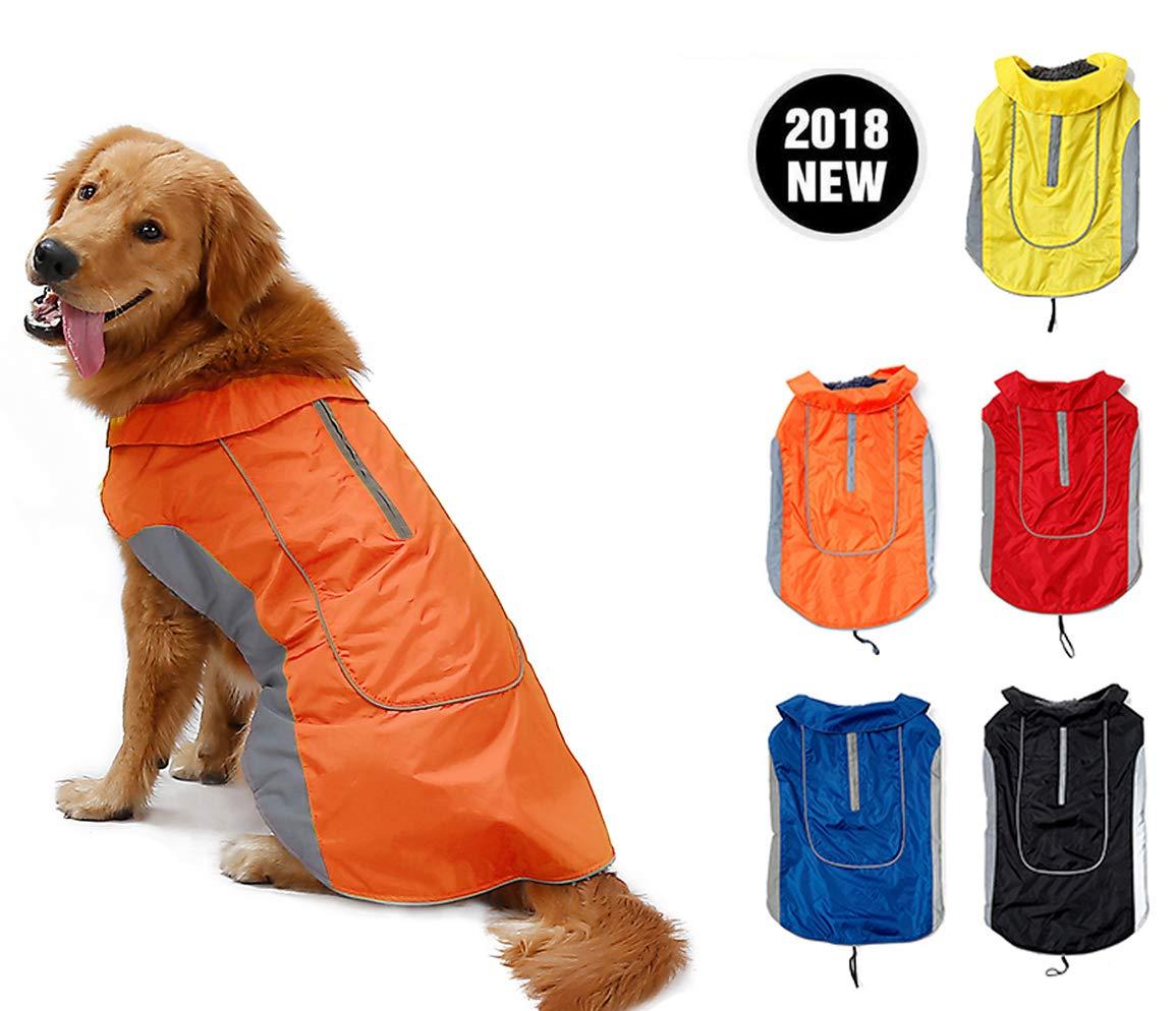 orange XS orange XS Premium Outdoor Sport Waterproof Dog Jacket Winter Warm Large Dog Coat with Harness Hole 7 Sizes 5 colors orange XS