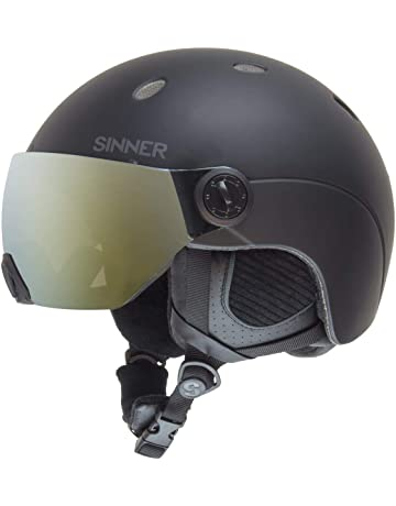 cad1baa694 SINNER Titan Visor Unisex Outdoor Snow Sports Snowboard   Ski Helmet Black  for Men