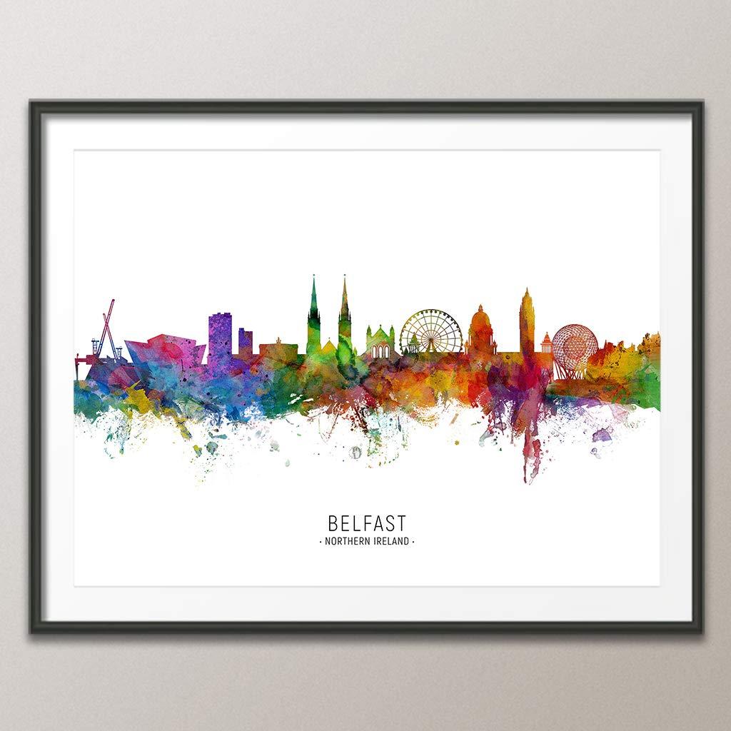unframed #6553 Belfast Northern Ireland Skyline art print