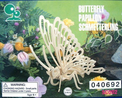 Wooden Butterfly- Precut and Ready to Assemble
