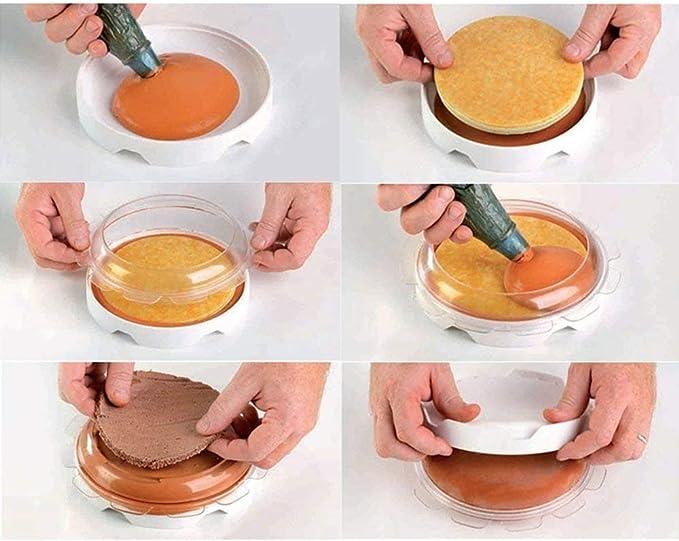 BeatlGem Round Eclipse Molde de Pastel de Silicona para Mousses ...