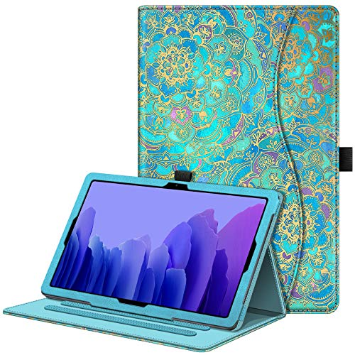 Fintie Case for Samsung Galaxy Tab A7 10.4'' 2020 Model (SM-T500/T505/T507), Multi-Angle Viewing Smart Stand Back Cover with Pocket, Auto Wake/Sleep, Shades of Blue