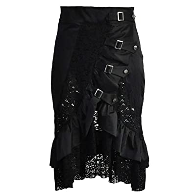 Alivila.Y Fashion Women's Vintage Steampunk Victorian Goth Lace Party Skirt: Clothing