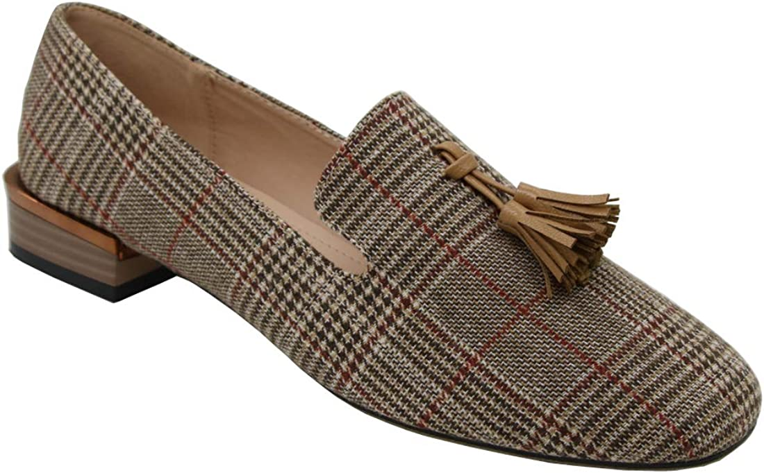 Modenpeak Women's Tassel Suede Loafers