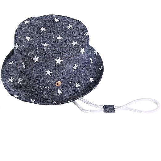 c4db1697 Amazon.com: Baby Sun Hat with Chin Strap - Unisex Toddler Summer Play  Bucket Hat UPF 50+: Clothing