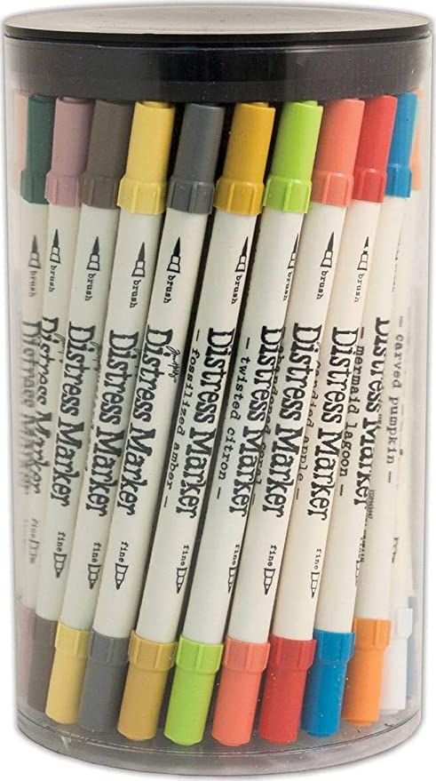Ranger Tim Holtz DISTRESS MARKER TUBE#2 12 Dual- Tip Markers//Package