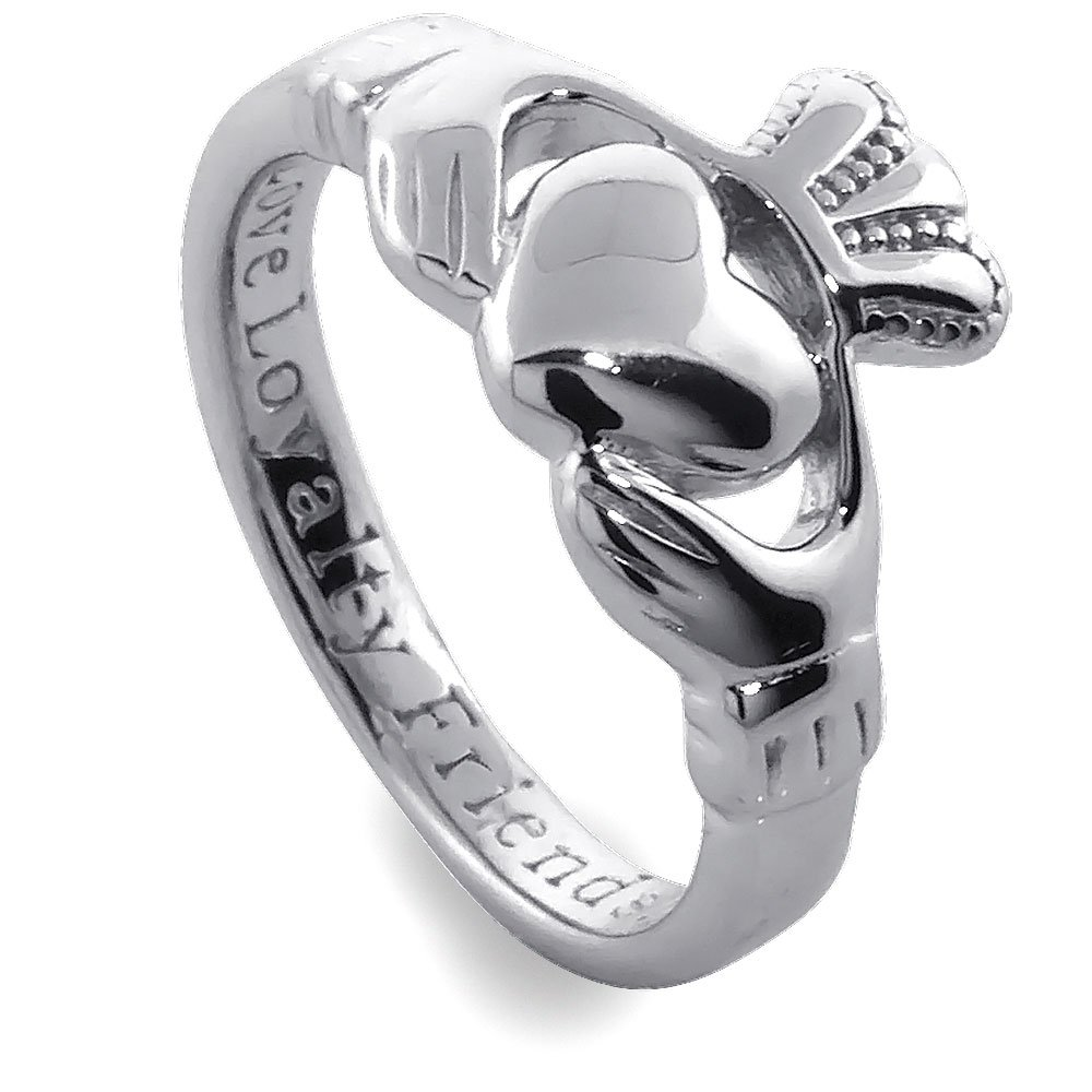Sterling Silver Ladies' Claddagh Ring, Size 7