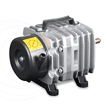 Tellaboull 220 V 18 W 38L / Min Bomba de Aire del Acuario compresor de Aire electromagnético Fish Tank Farms Estanque de oxígeno Bomba Acuario Accesorios: ...