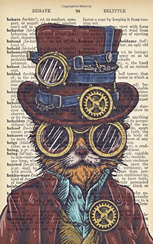 """Read Online Steampunk Cat Dictionary Art Monthly/Weekly Planner with Motivational Quotes (5""""x8"""") (2018 Planner and Calendar) pdf"""
