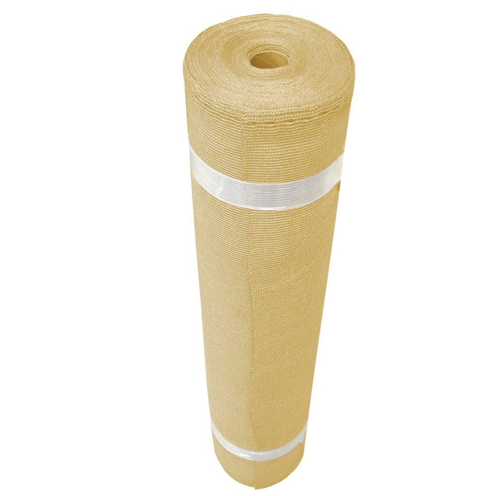 Coolaroo Heavy Shade Fabric Roll 6ft x 15ft Wheat