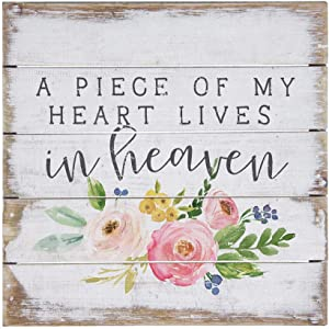 """Simply Said, INC Perfect Pallet Petites 8"""" Wood Sign - A Piece of My Heart Lives in Heaven"""