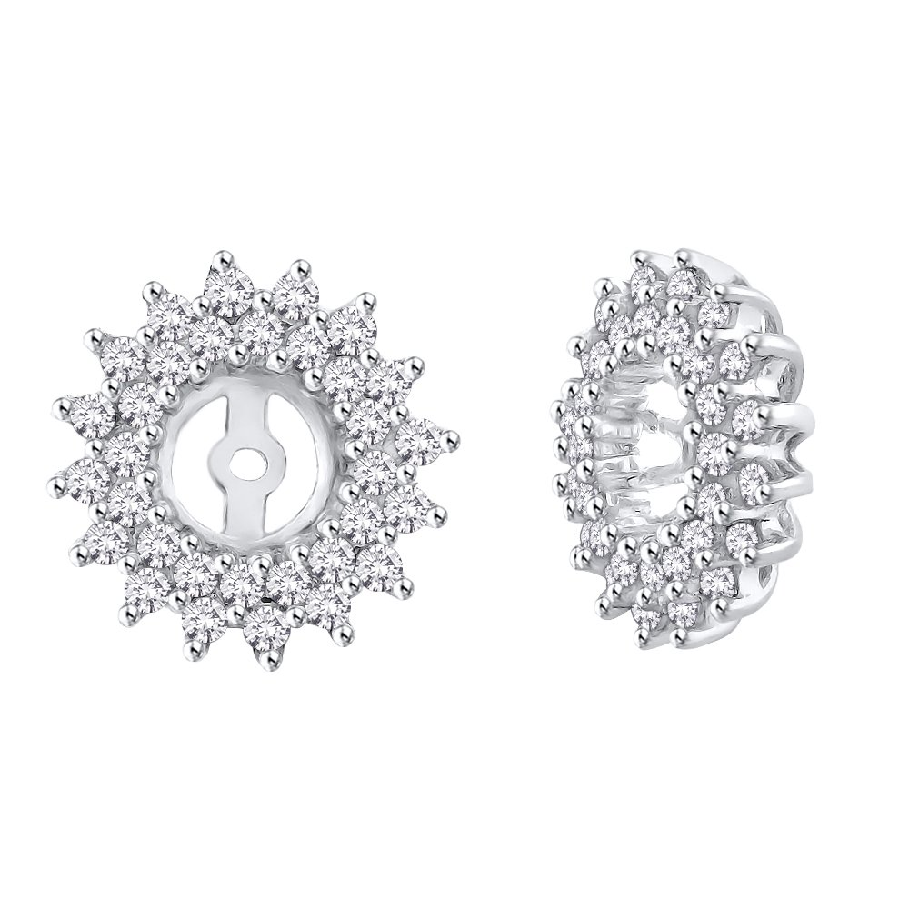 Diamond Earring Jackets in 14K White Gold (1/2 cttw) (Color JK, Clarity I1-I2)